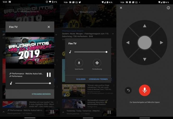 YouTube Chromecast comando Android Google