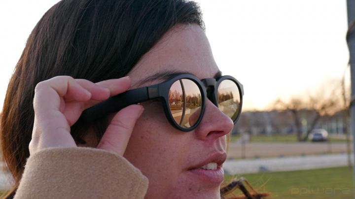 botão dos óculos bose