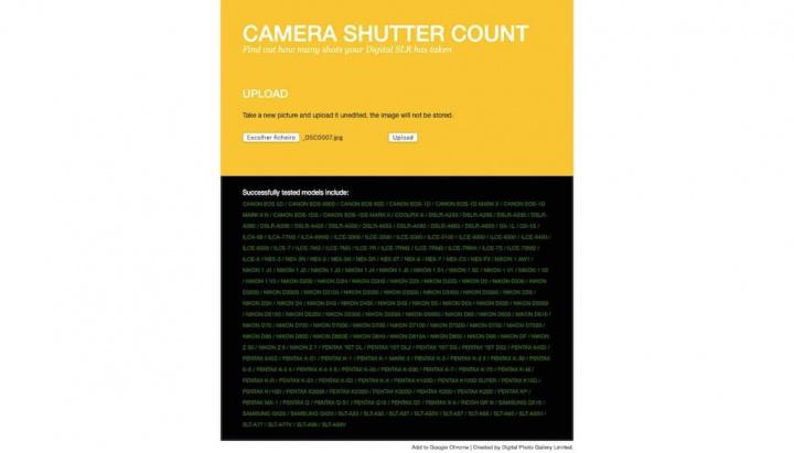Dica: saiba quantos disparos tem o obturador da sua câmara DSLR Camera Shutter Count