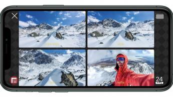 Imagem de iPhone com várias câmaras a filmar