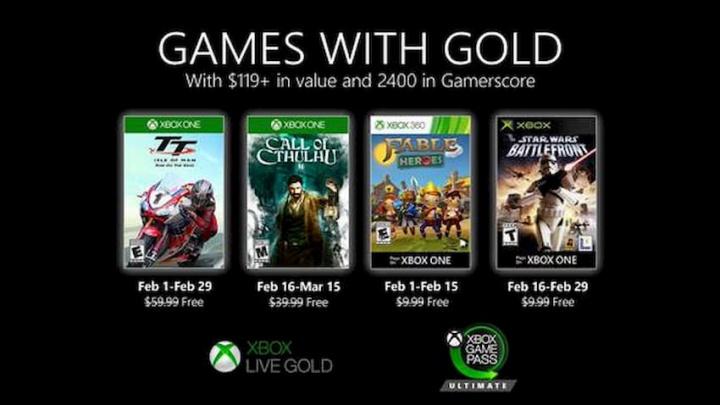 Games with Gold – fevereiro de 2020 com mais jogos na sua Xbox