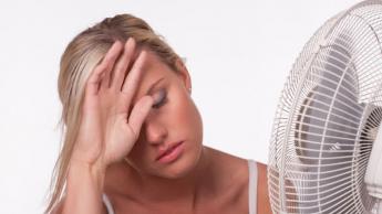Imagem do corpo humano a padecer com calor