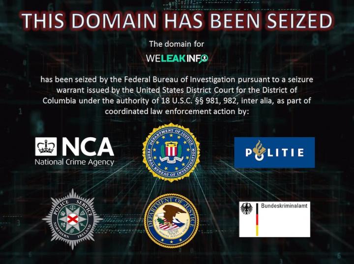 FBI apreende website que se dedicava a vender informações de utilizadores, como passwords WeLeakInfo ataques