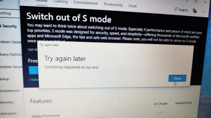 Então, Microsoft? Surface estão com problemas ao desligar o Windows 10 em modo S