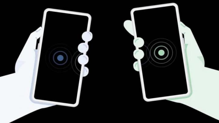 Imagem tecnologia Google Nearby Sharing que imita o AirDrop da Apple para transferir ficheiros entre dispositivos