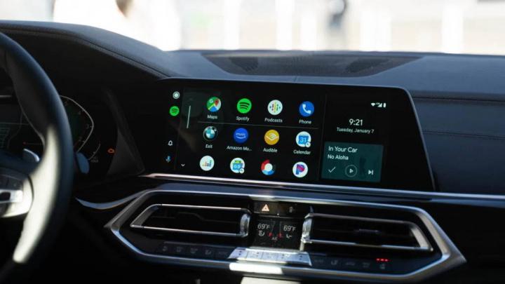 Imagem automóvel com Android Auto