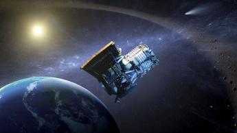 Imagem representação de observatórios caça asteroides da NASA