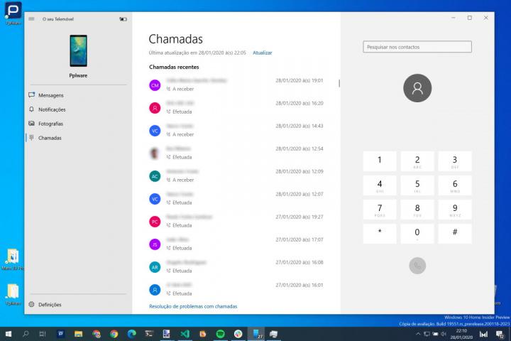 Windows 10 Android chamadas Microsoft telemóvel