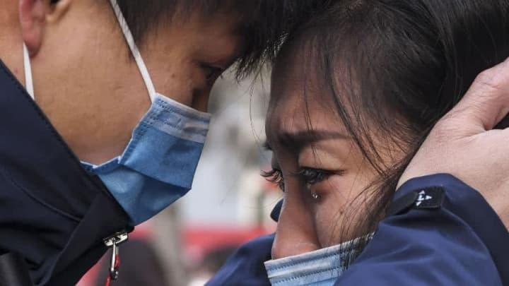 Imagem das pessoas na China com receio de uma pandemia coronavírus
