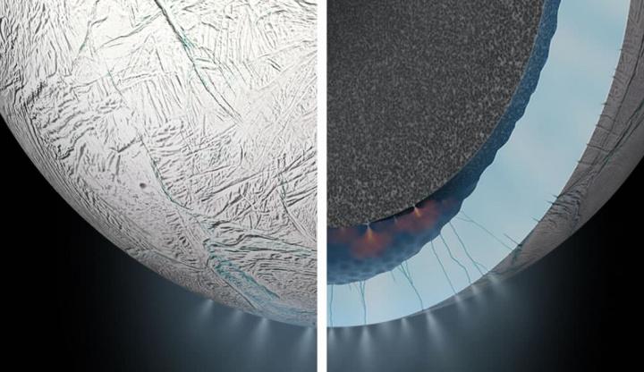 Imagem lua a lançar spay para o espaço