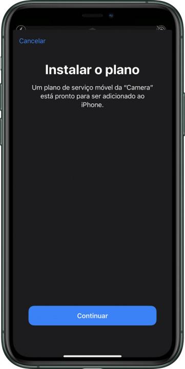 Imagem configuração eSIM MEO no iPhone