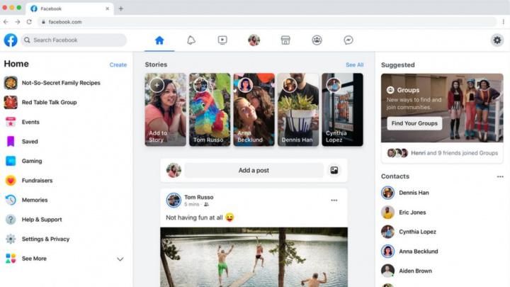 Facebook: Novo visual começa a ficar disponível aos utilizadores