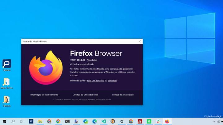Firefox segurança atualizar browser Mozilla
