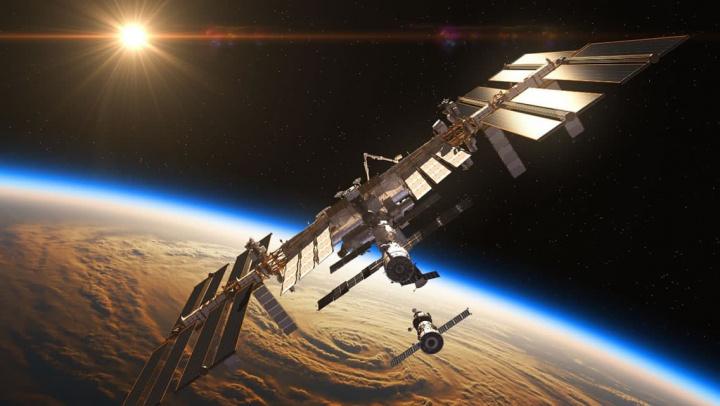 Imagem da NASA da Estação Espacial Internacional com gravidade zero