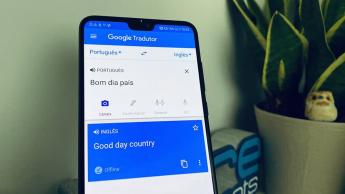 Imagem Google Tradutor no idioma português em tempo real