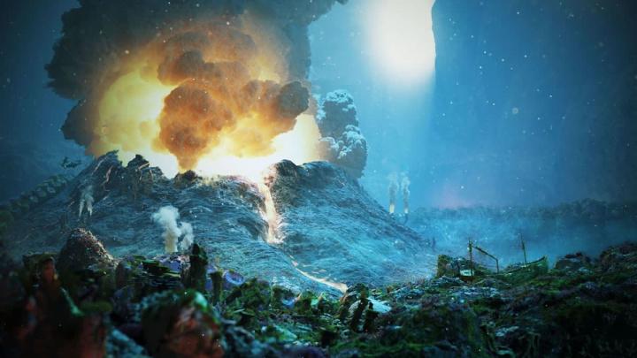 Imagem de um vulcão submarino nascido na Ilha de Mayotte que estará por trás do estranho zumbido