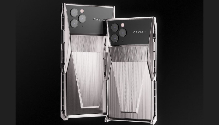 Imagem iphone 11 Pro Caviar inspirado no Cybertruck da Tesla