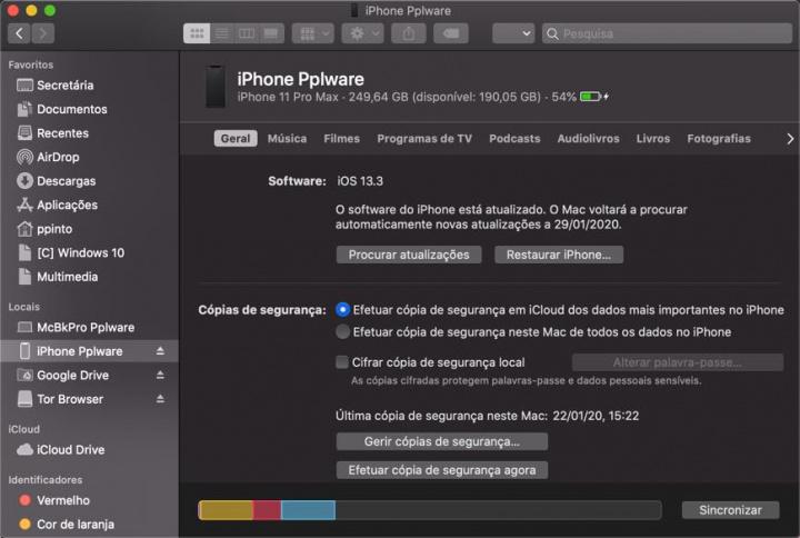 macOS Catalina: Saiba como gerir os backups do seu iPhone