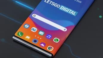 Imagem smartphone LG com ecrã dobrável