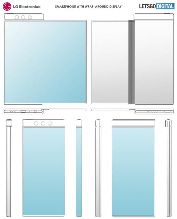 Imagem patente LG de smartphone dobrável