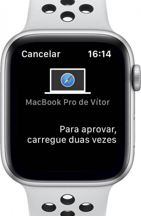 Imagem Apple Watch com capacidade de desbloqueio