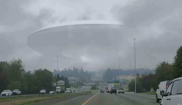 Ilustração de supostos ovnis que podem ser pilotados por humanos extraterrestres vindos do futuro