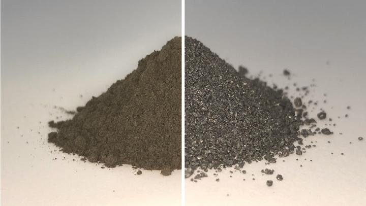 Imagem regolito lunar, o pó do solo da Lua