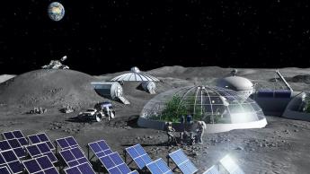 Imagem de base na Lua que NASA e ESA querem criar
