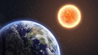 Imagem da Terra ao redor do sol no seu periélio