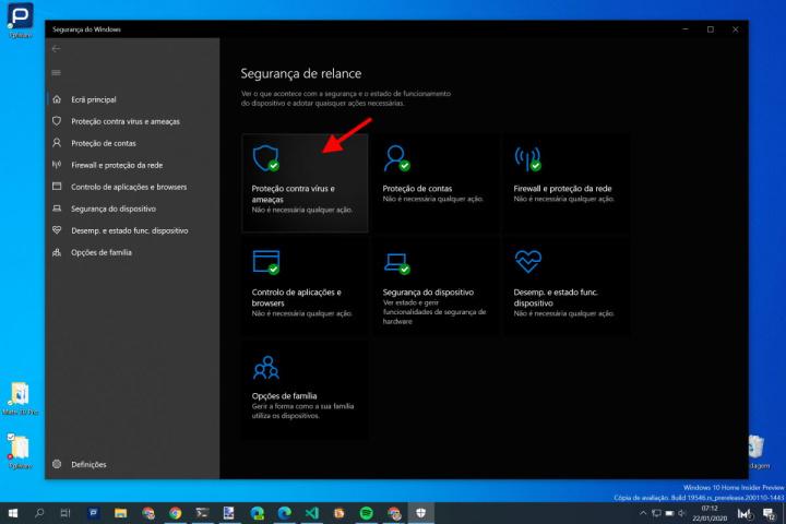 Windows Defender notificações Windows 10 alertas vírus
