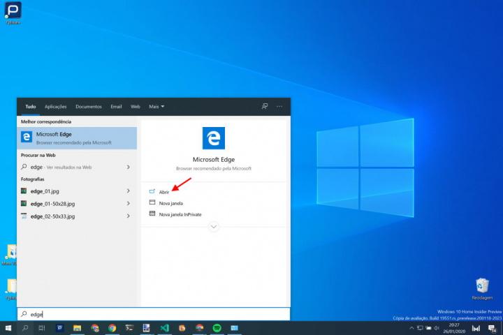 Podem procurar novamente o Edge da Microsoft