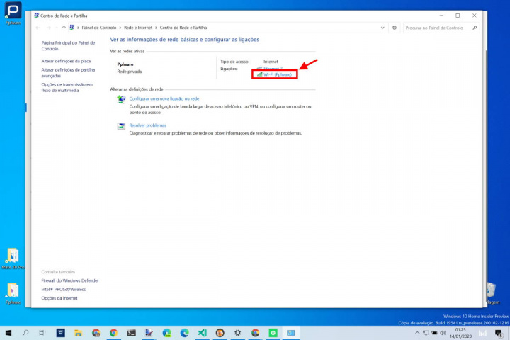 wifi password Windows 10 rede simples