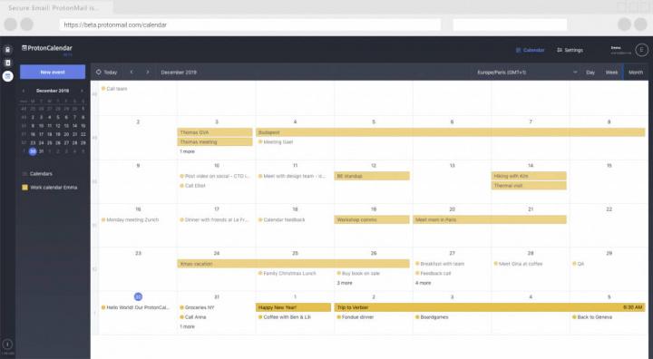 ProtonCalendar ProtonMail calendário privacidade segurança