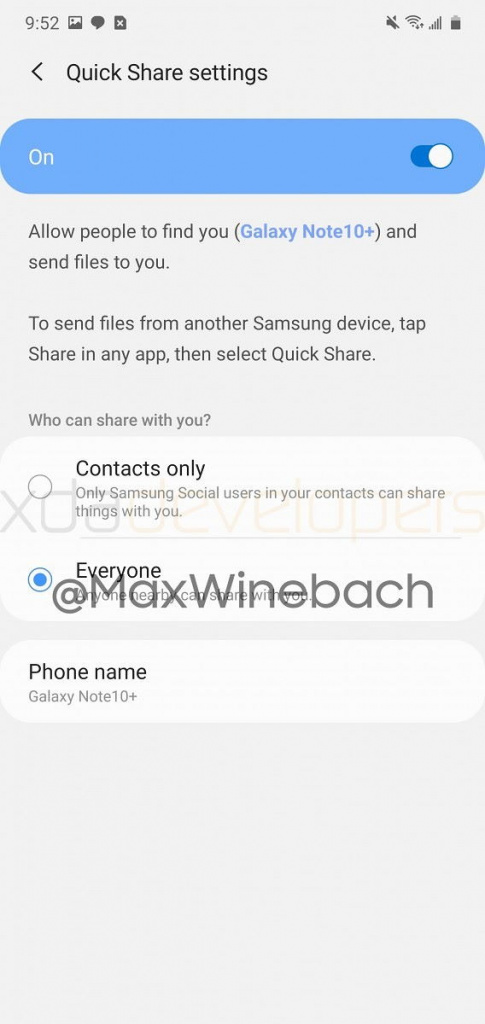 Quick Share Samsung Galaxy smartphones AirDrop