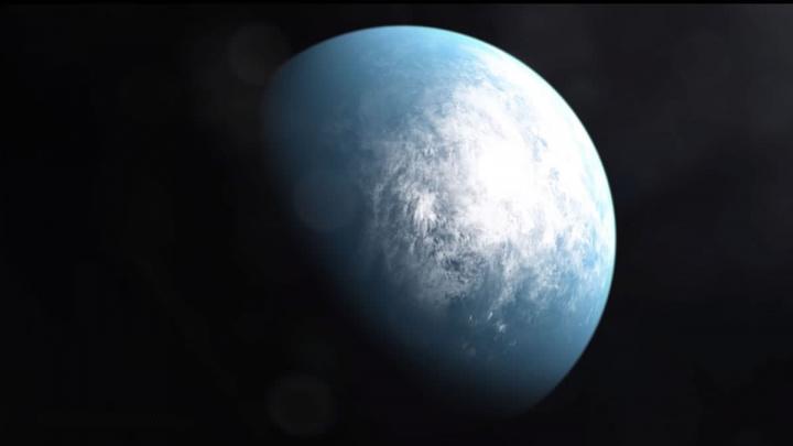 Imagem de um novo planeta descoberto pelo satélite da NASA, TESS