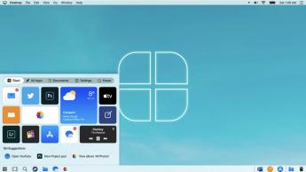 Imagem do Windows 10 da Microsoft mas desenhado pela Apple