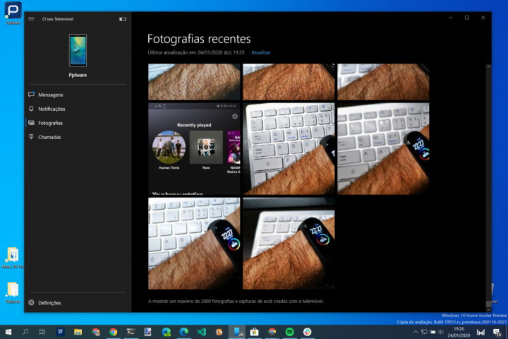 Android Windows 10 Microsoft telemóvel fotografias