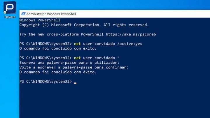 convidado Windows 10 conta Microsoft emprestar