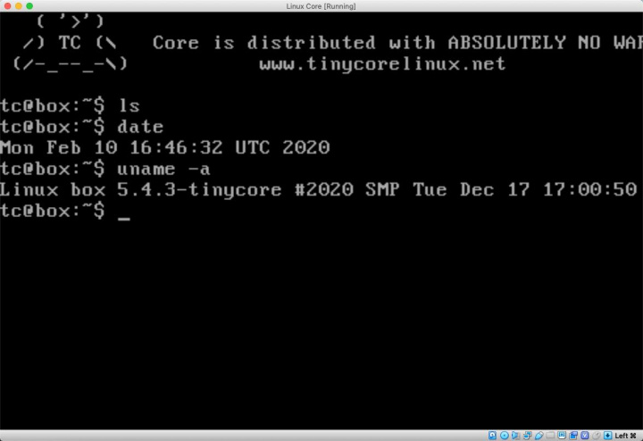 Tiny Core 11! Linux that is 145 times smaller than Windows 10