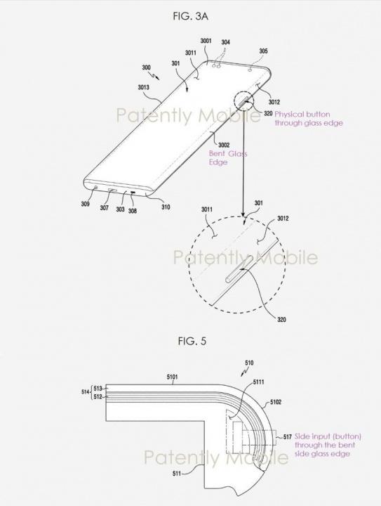 Patente de ecrã 'cascata' registada pela Samsung.