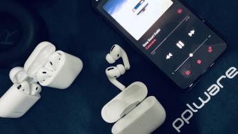 Imagem AirPods Pro com iPhone 11 Pro Max