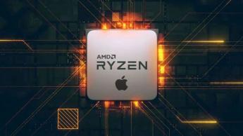 Ilustração Ryzen da AMD Apple