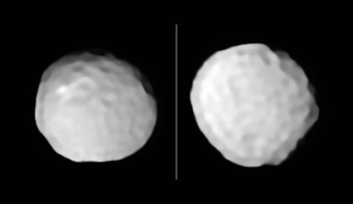 imagem asteroide bola de golfe observado pelos astrónomos