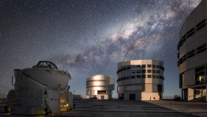 Imagem do Very Large Telescope a olhar para a cintura de asteroide
