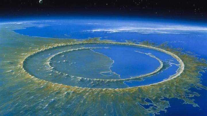 Imagem da península Yucatan onde caiu um asteroide