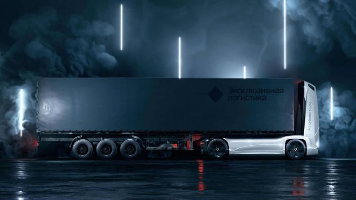 Imagem do Gruzovikus, um conceito de veículo autónomo elétrico