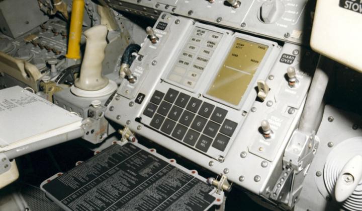 Imagem do computador da sonda Apollo 11