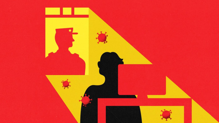 Imagem ilustração censura governo da China contra informação sobre Coronavírus