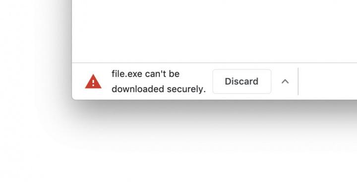 Chrome Google browser downloads perigosos