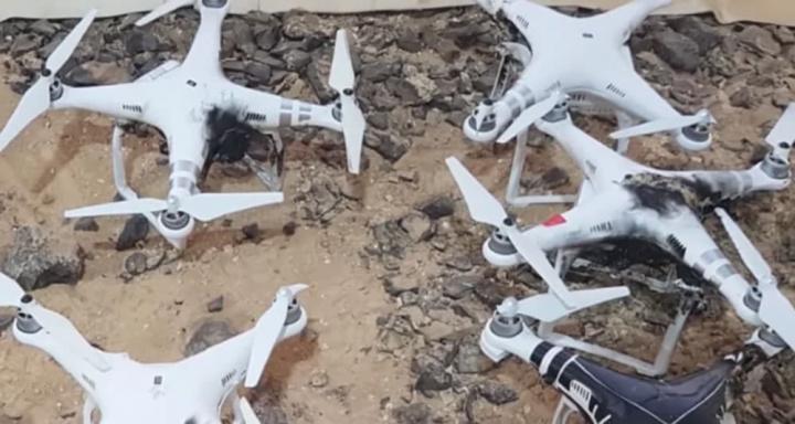 Imagem Drones destruídos com arma laser